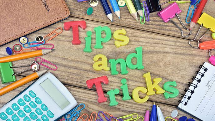 """""""Tips and Tricks"""" als bunte Magnetbuchstaben."""