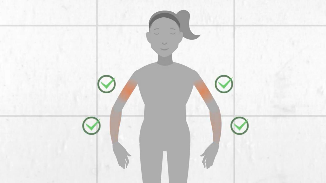 Ein kaltes Armbad dient als natürlicher Wachmacher