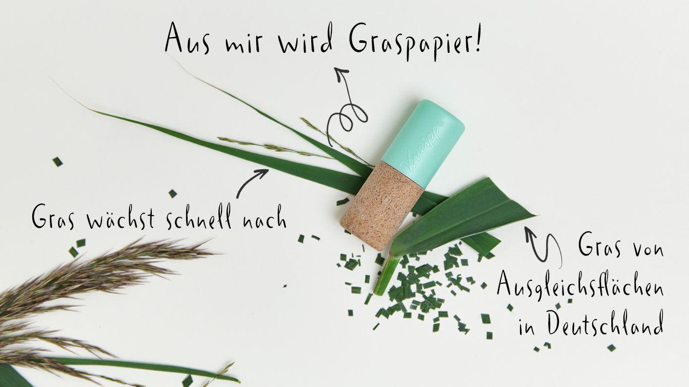 Graspapier schont natürliche Ressourcen