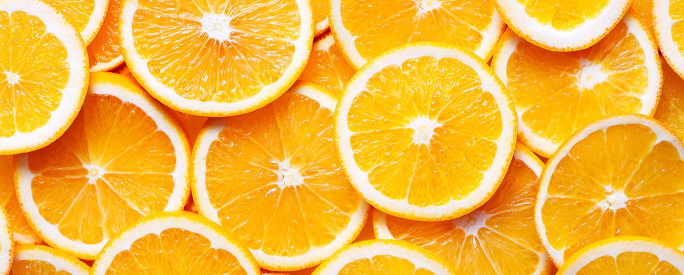 Nahaufnahme von Orangenscheiben