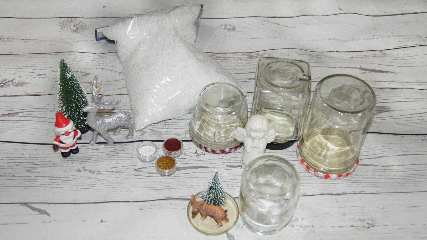 Weihnachten Basteltipp Schneekugel Anleitung