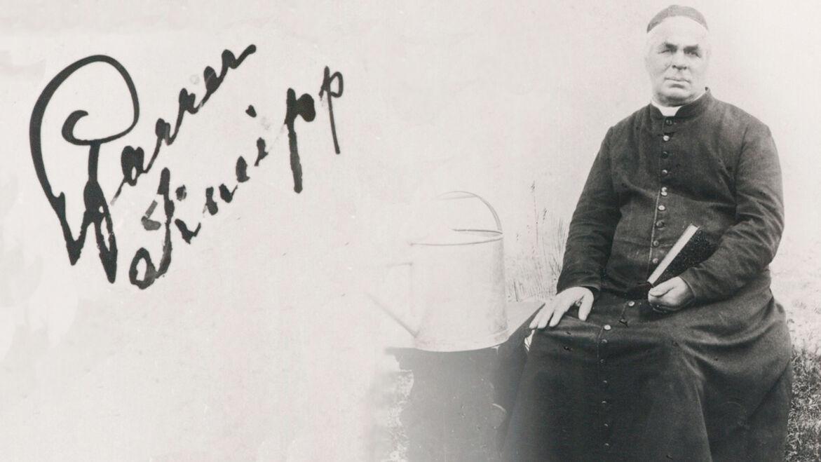 Porträt Sebastian Kneipp mit Signatur
