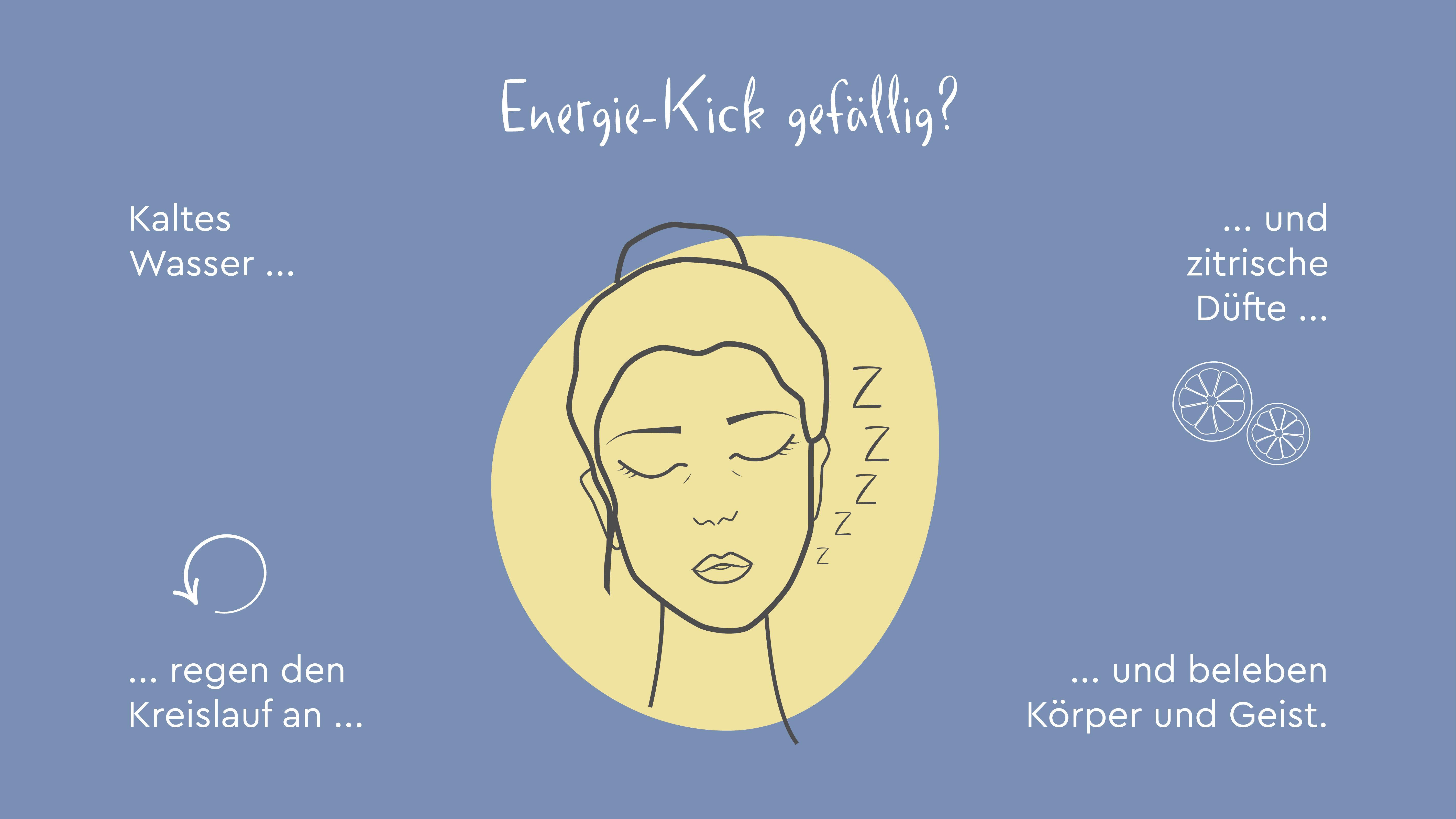 Illustration zum Thema Energie-Kick unter der Dusche