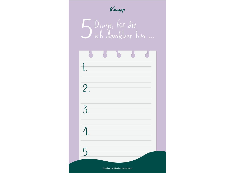 Deine Dankbarkeits-Checkliste