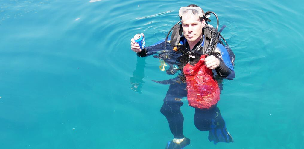 Meeresplastik sammeln tauchen Thousand Islands
