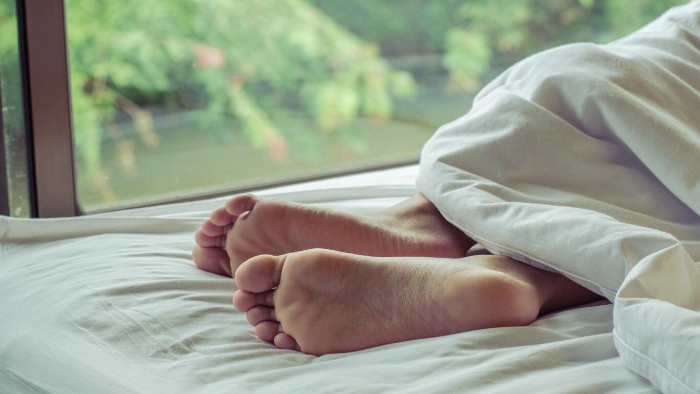 Schlafen Haut