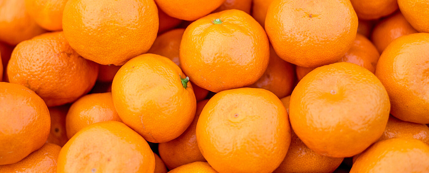 Nahaufnahme von Mandarinen in Schale