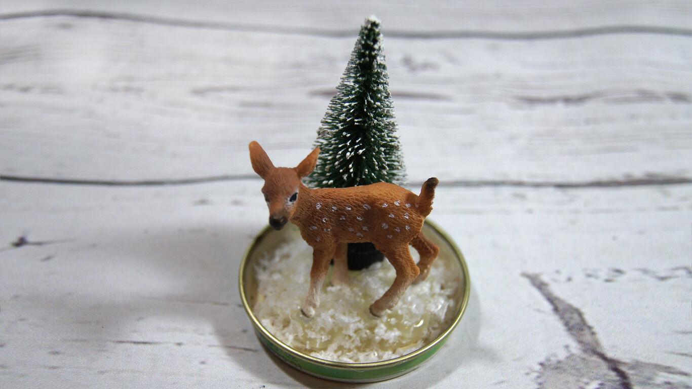 Weihnachten Basteltipp Schneekugel Anleitung 5