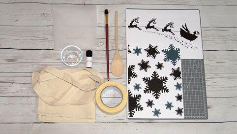 Weihnachten Basteltipp Lavendeldruck