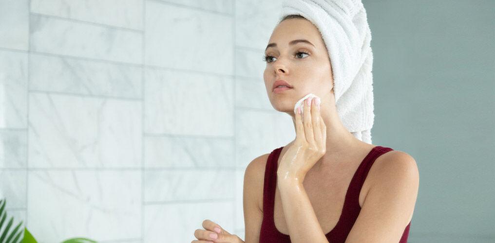 Step 1: Vor der Anwendung einer Tuchmaske