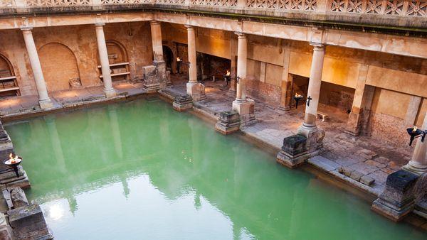 Historische Badeanlage in Rom.