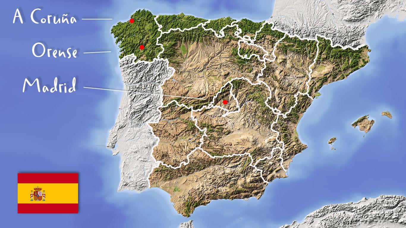 Arnika montana in Galizien: Landkarte