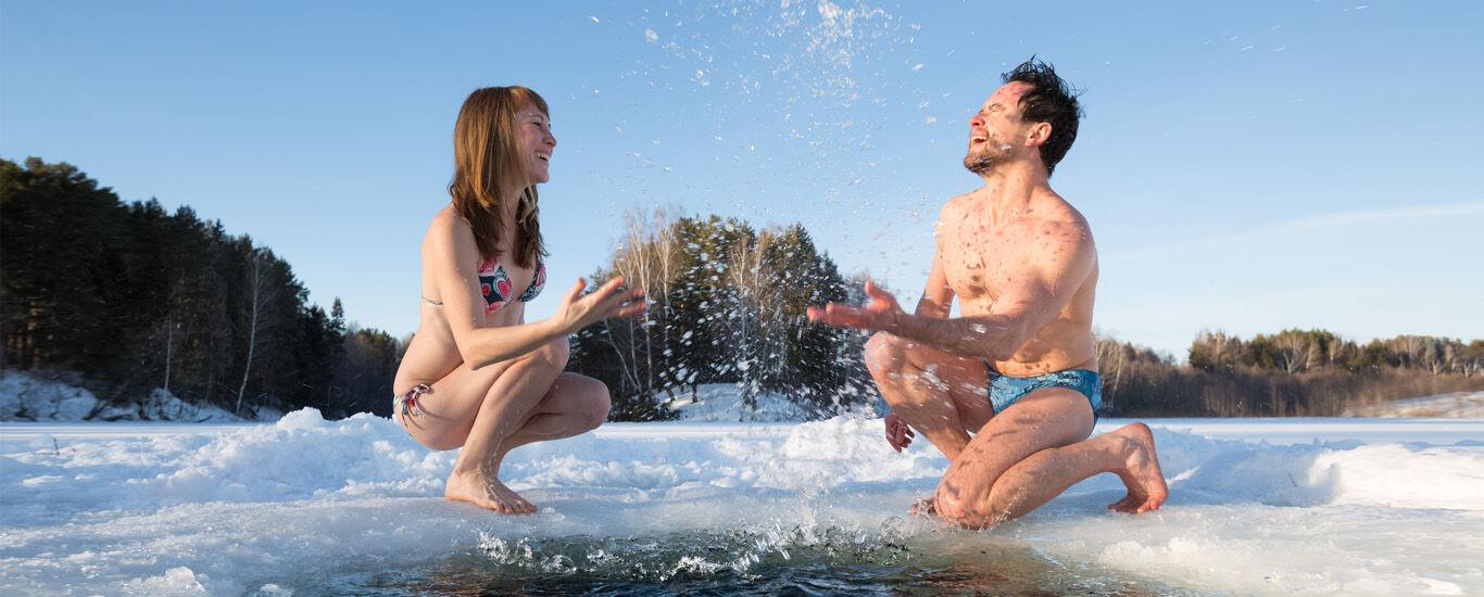 Eisbaden ist gesund