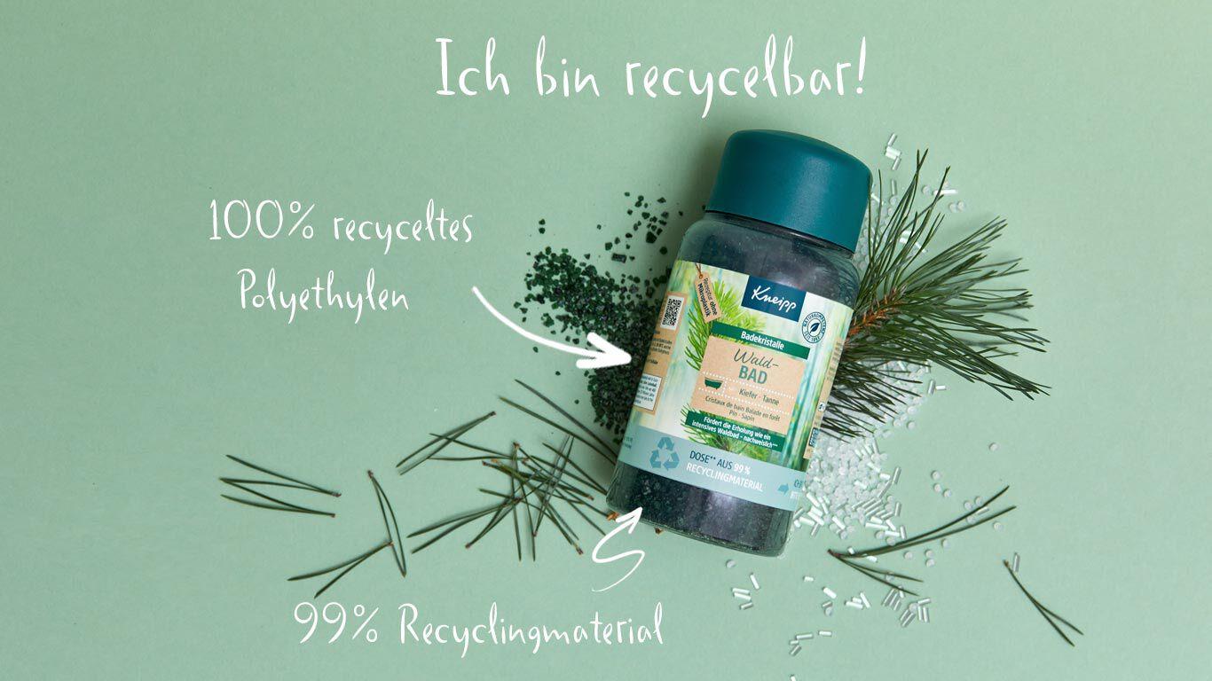 Recycling Verpackung Badesalz