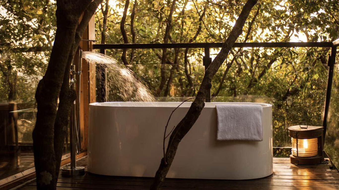 Entspannung in der Badewanne in Indien