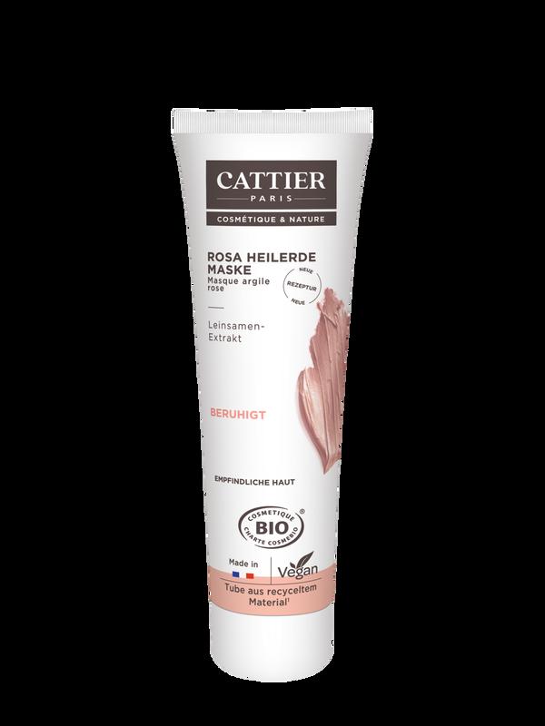 Cattier Rosa Heilerde Maske für empfindliche Haut