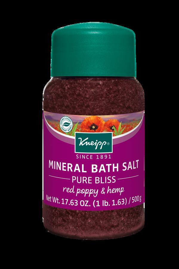 Pure Bliss Red Poppy & Hemp Mineral Bath Salt