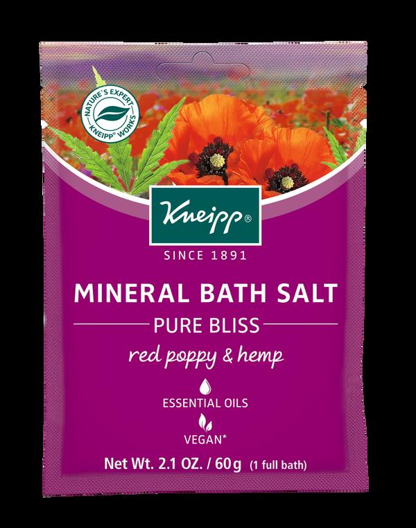 Pure Bliss Red Poppy & Hemp Mineral Bath Salt Mini