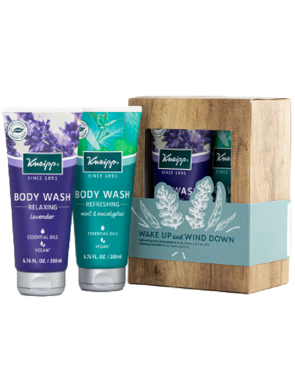 Wake Up & Wind Down Lavender and Mint & Eucalyptus Body Wash Gift Set