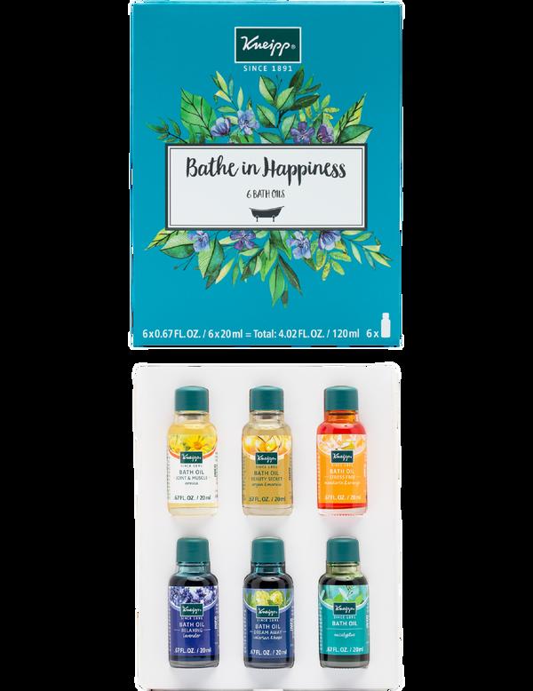 Bathe in Happiness 6-Piece Bath Oil Set