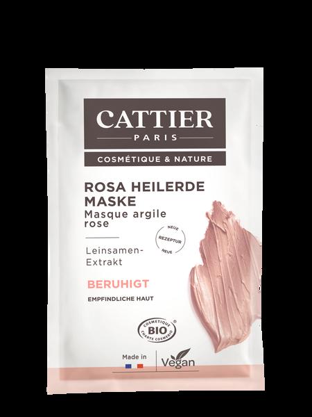 Cattier Rosa Heilerde Maske für empfindliche Haut - Einmalanwendung